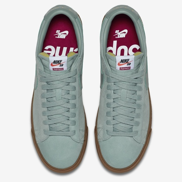 "cheap for discount 0bc80 34548 Nike X Supreme Blazer Low GT QS ""Cannon Gum Blue"""